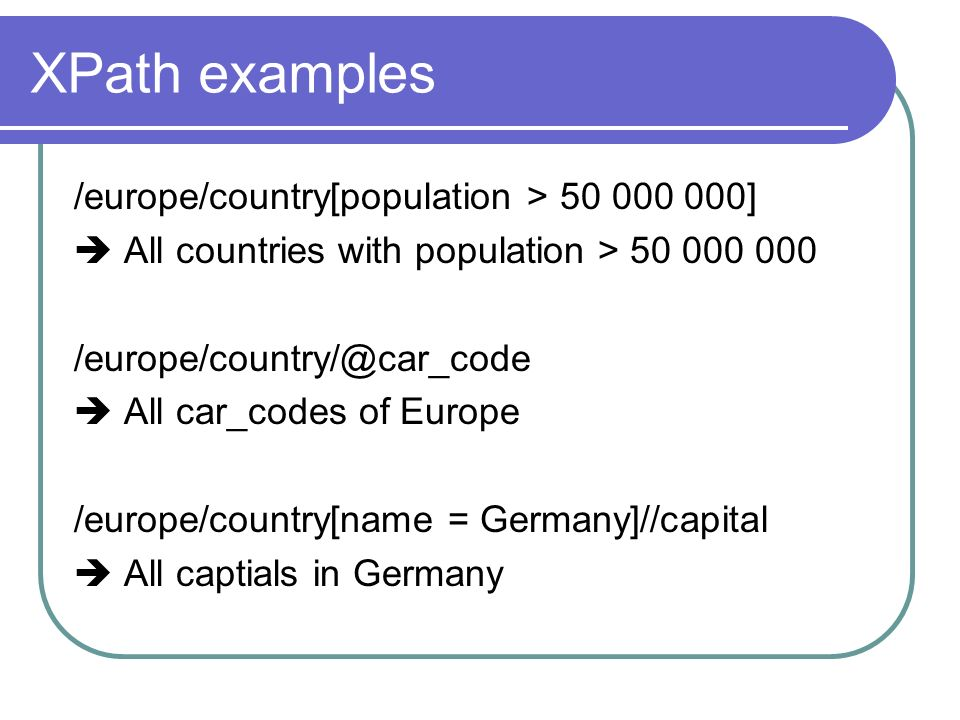 XML Databases By Sebastian Graf Hier Beginnt Mein Toller Vortrag - All country name and capital
